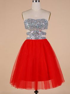 Sexy Sweetheart Prom Dress with Cutout, Elegant Red Homecoming Dresses, Crystal Beaded Simple Short Prom Dresses, · VanessaWu · Online Store Powered by Storenvy Pretty Short Dresses, Pretty Homecoming Dresses, Best Prom Dresses, Dresses Short, Nice Dresses, Bridesmaid Dresses, Formal Dresses, Amazing Dresses, Inexpensive Prom Dresses