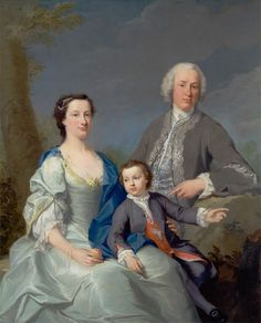 Attributed to Andrea Soldi, 1703–1771, Italian, active in Britain (from ca. 1736), Sir Robert and Lady Smyth with Their Son, Hervey, between 1738 and 1739, Oil on canvas, Yale Center for British Art, Paul Mellon Collection