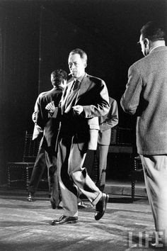 Albert Camus dancing by Loomis Dean 1957