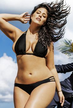 Ashley Graham makes history as the first plus size woman to feature in Sports Illustrated   Daily Mail Online