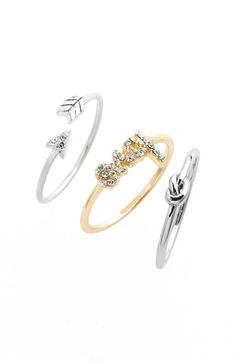 LONNA & LILLY 'Flow' Rings (Set of 3) available at #Nordstrom