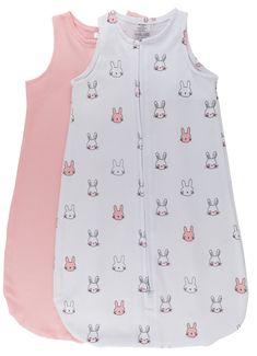 Wearable Blanket / Baby Sleep Bag Pink Bunnies  #wearableblanket #bunnies #blue #pink #2pack #babies #babiesofinstagram #baby #babyboy #babygirl #angeli #diy #diybaby #nursery #babynursery