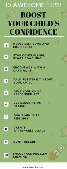 Confident kids are able to overcome obstacles to reach their goals. Want our secret to raising confident children? Click now and discover 10 parenting tips to help build self-esteem. Plus a printable chart! #beenke #ParentingTips | Mom, Life, confident child, ideas