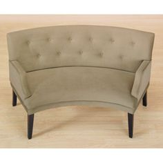 @Overstock - Modern meets retro with beautiful Hilton brown sugar loveseat. This curves chair features espresso stained wood legs with non mar foot glides for floor protection.http://www.overstock.com/Home-Garden/Hilton-Button-tufted-Curved-Loveseat/4849883/product.html?CID=214117 $269.99