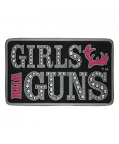 Montana Silversmiths Girls with Guns License For Attitude Belt Buckle