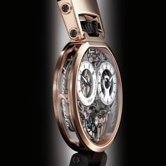 "Bovet Flying Tourbillon OttantaSei by Pininfarina  While a mere glance is enough to confirm its membership of the BOVET by Pininfarina family, the Tourbillon OTTANTASEI is bursting with technical innovations and stylistic changes all harmoniously planned around a detailed series of specifications. The word ""light"", with its dual connotations of luminosity and limited weight, was the watchword for every stage in the development of this project."