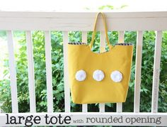 Large tote with rounded opening - tutorial