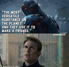 It's a really, REALLY good frisbee, though. #captainamerica #ultron #avengers