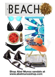 """www.abelmunozshop.com"" by abelmunozaccessories ❤ liked on Polyvore featuring moda, Abel Muñoz, Chanel, Trina Turk, Rosanna, Michael Kors, Sun Bum, Yves Saint Laurent, women's clothing y women's fashion"