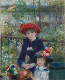 X  Pierre-Auguste Renoir  Two Sisters (On the Terrace), 1881