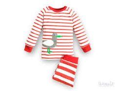 bb1f8cc36441e9 Rot-weiß gestreifter Schlafanzug für Kinder von internaht auf Etsy++++Save