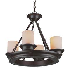 Dining Room Lighting Fixture - smaller & different allen + roth 4-Light Oil-Rubbed Bronze Chandelier