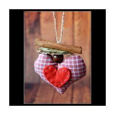 Inima cu scortisoara perfecta pentru decorarea casei cu iubire de CraciunPret/buc