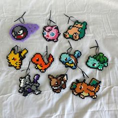 Product Details: These are 100% handmade Pokemon Christmas tree ornaments! They are made out of plastic beads that have been fused together.