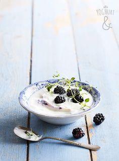 Yoghurt & Bjørnebær & Timian - Se flere spennende yoghurtvarianter på yoghurt.no - Et inspirasjonsmagasin for yoghurt.
