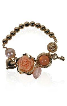 peach charm bracelet