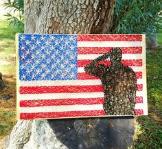 Saluting Soldier String Art by SBPersonalCreations on Etsy
