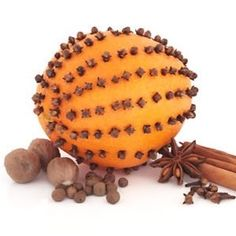 Modern day way to make a Pomander. Hang pomanders in doorways or on mantelpieces,