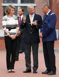King Philippe and Queen Mathilde visited the police station in the Charleroi city centre