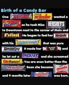 19 Ideas Funny Baby Shower Games For Girls Hilarious Candy Bars For 2019 - Baby Showers Candy Bar Poems, Candy Bar Sayings, Karma, Candy Grams, Baby Ruth, Baby Baby, Back In The 90s, Lol, Baby Shower Games