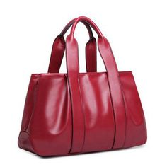 Leather Women Solid Casual Shoulder Bag Design Hobos Tote Bags