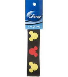 """3 yds. of 1"""" Disney Mickey Mouse Silhouette Ribbon"""