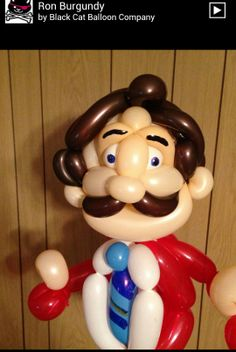 Ron burgundy balloon character. #ron burgundy balloon character #ron burgundy balloon sculpture #ron burgundy balloon art #ron burgundy balloon twist #anchor man balloon character #anchor man balloon sculpture #anchor man balloon art #anchor man balloon twist #movie balloon character