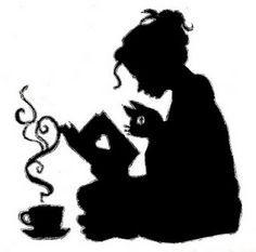 woman drinking coffee silhouette - Google Search