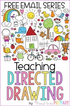 Sign up for the FREE directed drawing email series filled with tips to get you started teaching kids how to draw with directed drawing, strategies for success in the classroom, and tons of FREE drawing tutorials you can access right away. #directeddrawing #artforkids #howtodraw #drawingwithkids #kidart