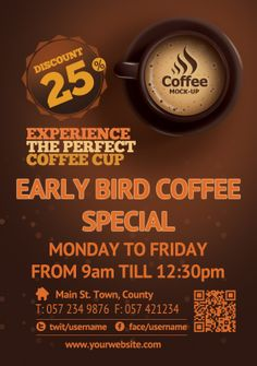 Flyer/Poster Design For Coffee Shopu0027s