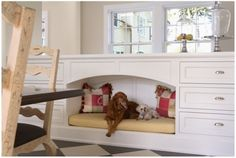 built in dog nook!