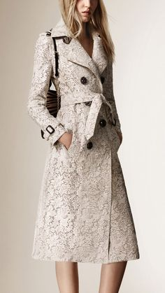 Burberry's Lace-Effect Calfskin Trench Coat will set you back $10k.... but it is STUNNING