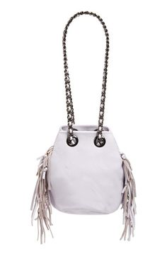 Rebecca Minkoff 'Fringe Bruni' Leather Bucket Bag available at #Nordstrom