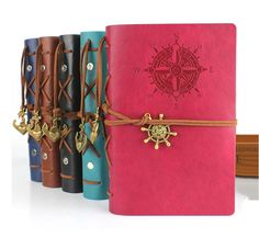 RuiZe 2016 String Nautical vintage notebook travel journal diary kraft paper Blank Sketchbook a6 ring binder note book caderno