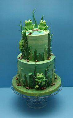 @Kathleen S S S S S DeCosmo ♡❤ #Cake ❥  #Froggy Cake Adorable!