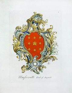Antique Prints of Heraldry, Heraldic Crests from Richardson c1780