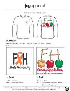 JCG Apparel : Custom Printed Apparel : Farmhouse Candy Apple Bar T-Shirt #farmhouse #fh #apple #greek