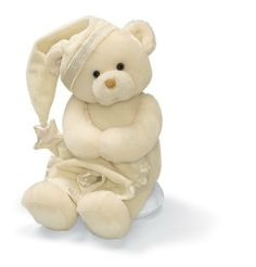 Gund My First Nighty Nights Bear by Gund. $26.32. Award-winning Gund products appeal to all ages, from infants up, and are perfect for both play and collecting. Includes 3 replaceable AA batteries, on/off switch on paw. Gund is known worldwide for its top quality, soft and huggable plush designs and gift products. The world's most huggable since 1898. My First Nighty Nights Bear Features: Plays: TinkleTwinkle Little Star while head moves and feet light up. From the Manu...
