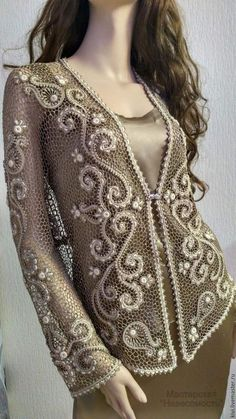 804 best images about Crochet Lace Col Crochet, Cardigan Au Crochet, Russian Crochet, Japanese Crochet, Freeform Crochet, Crochet Cardigan, Irish Crochet, Crochet Stitches, Crochet Braids