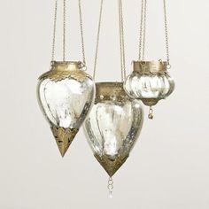Mercury Glass Lanterns for a bouquet alternative