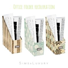 Office folder recoloration at Sims4 Luxury via Sims 4 Updates