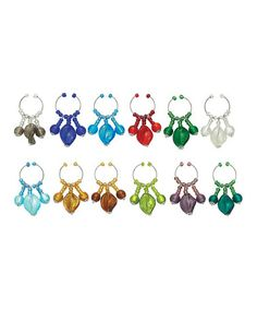 Take a look at this Colorful Spray Wine Charm Set by Boston Warehouse on #zulily today!