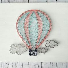 nice Hot Air Balloon String Art