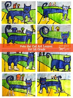 Pete-the-Cat guided art lesson