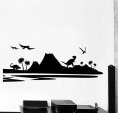 Vinyl Wall Decal Dinosaur Dino Children Nursery Kids Home Decor z4442