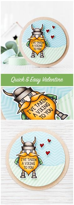Quick & easy valentine. Find out more by clicking on the following link: http://limedoodledesign.com/2015/12/quick-easy-valentine/ card viking valentine