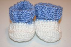 Crochet Baby Booties Roll Top by BlissfulFiber on Etsy, $8.00