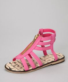 http://www.zulily.com/invite/vhanson979Take a look at this Fuchsia Gladiator Sandal by kensiegirl on #zulily today!