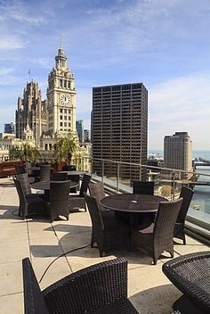 View from Trump Tower Hotel, Chicago, Illinois, United States of America, North…