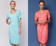 The Lucia #dress is cut slightly higher in the front just past the knee, V-neckline with a pocket feature and short sleeves. So soft and light you will never want to take it off. This #feminine easy to wear #design is perfect for all shapes and sizes. Dress it up or down for this season. Avl. in #aqua and #coral.  $79.90 AUD  #buddhawear #summer #collection #ethical #fashion #womenswear #beachwear #resortwear